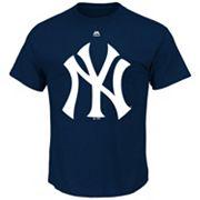 Big & Tall Majestic New York Yankees Large Logo Tee