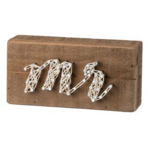"""Mr"" String Box Wall Art"