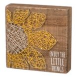 """Enjoy The Little Things"" String Box Wall Art"