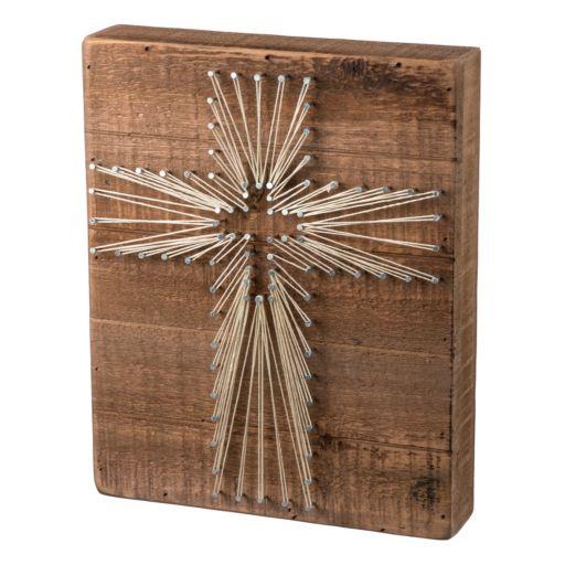 Cross String Box Wall Art
