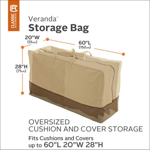 Veranda Oversized Patio Cushion Storage Bag