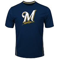 Big & Tall Majestic Milwaukee Brewers Skills Tee