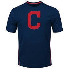 Big & Tall Majestic Cleveland Indians Skills Tee
