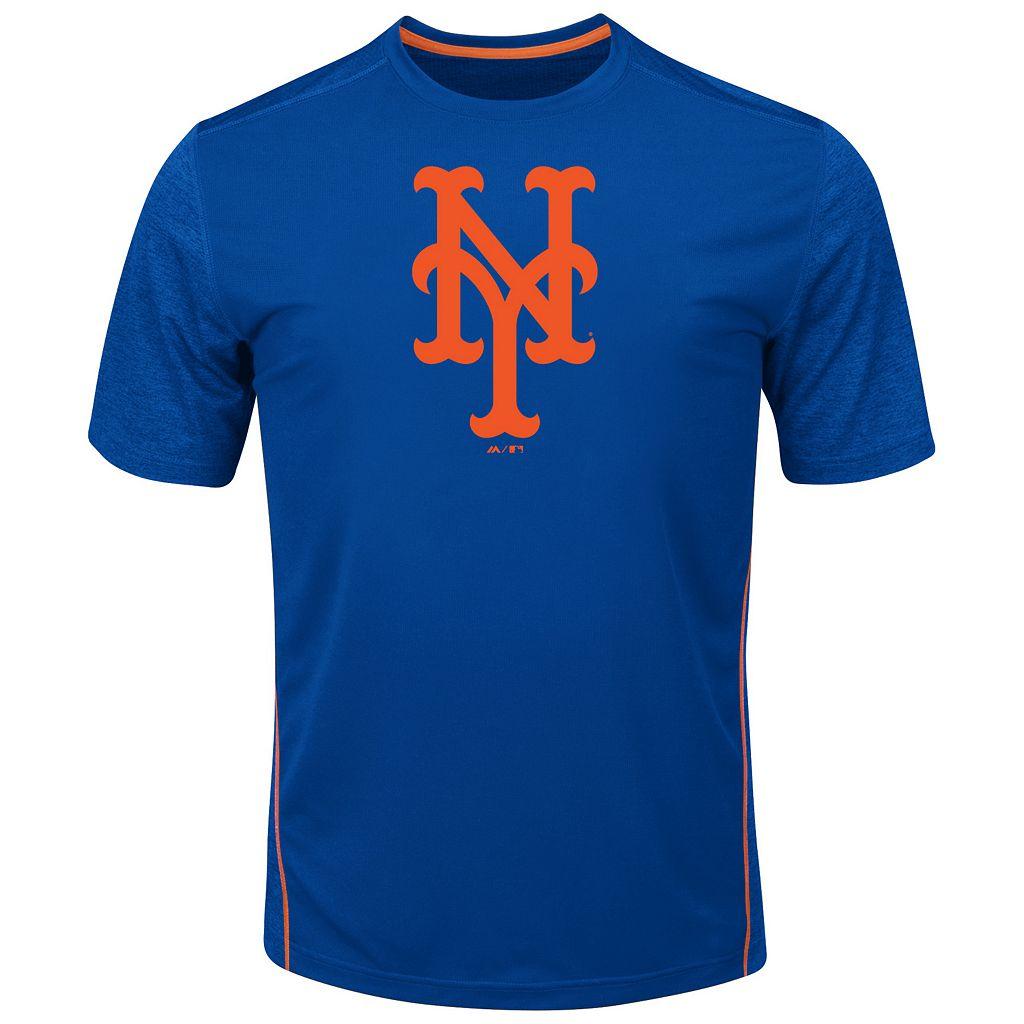 Big & Tall Majestic New York Mets Skills Tee