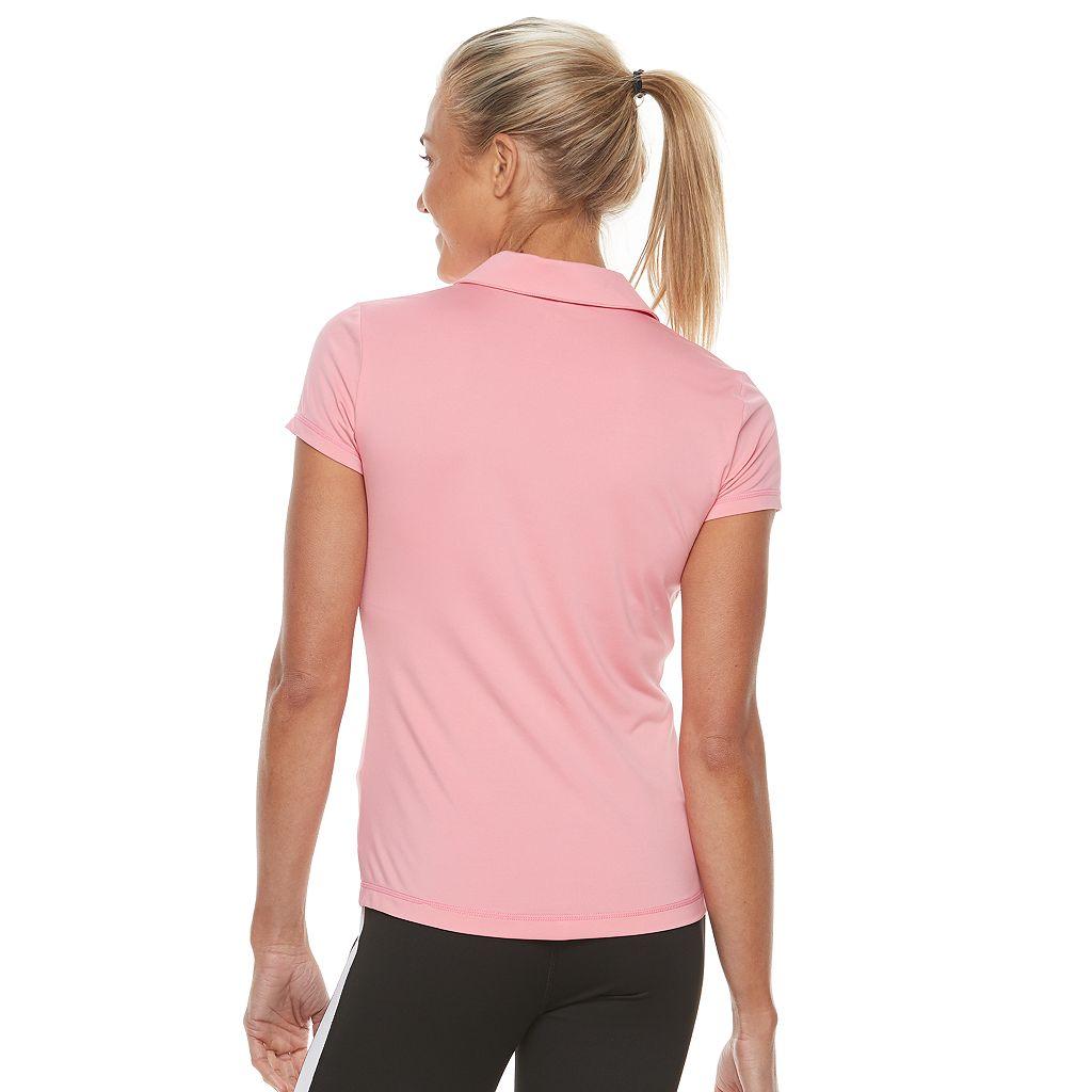 Women's FILA SPORT® Laser Cut Short Sleeve Polo