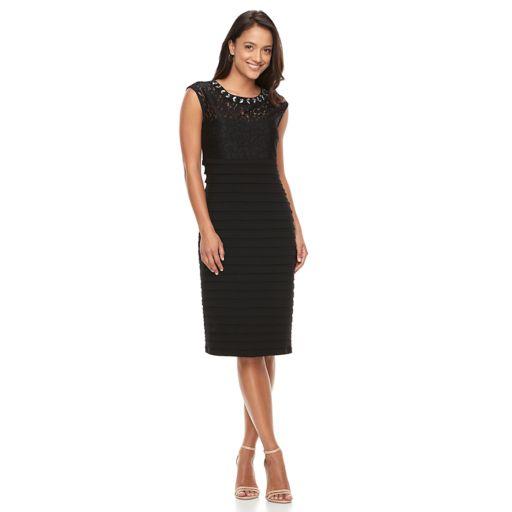 Women's Scarlett Shutter Stripe Sheath Dress