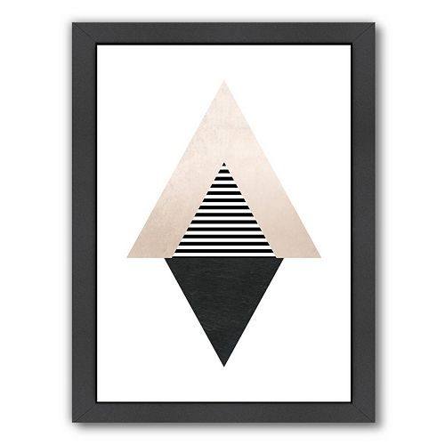 Americanflat Geometric Art 56 Framed Wall Art