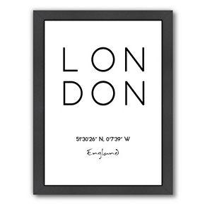 "Americanflat ""London"" Framed Wall Art"