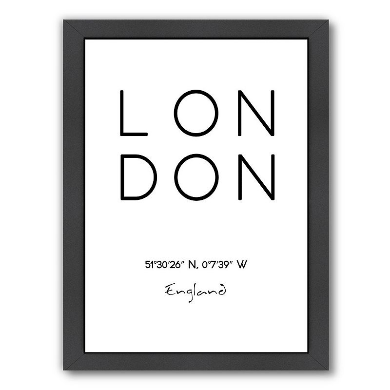 "Americanflat ""London"" Framed Wall Art, Medium"