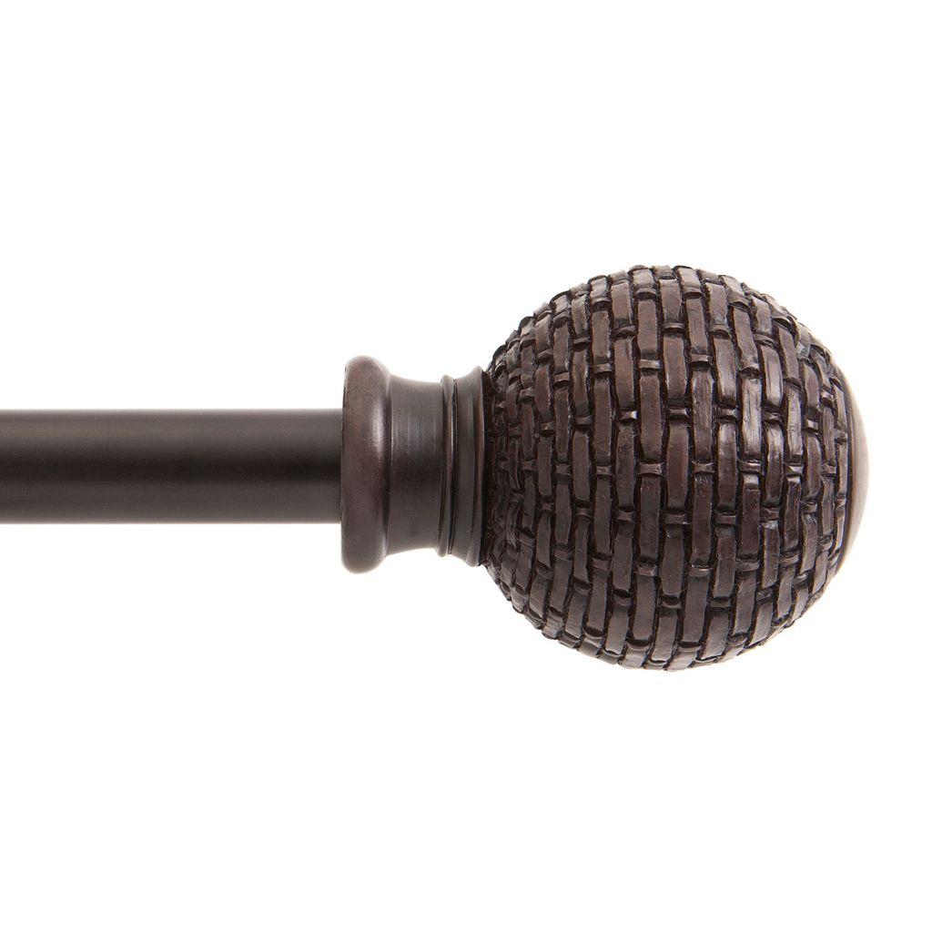 Kenney Woven Ball Adjustable Curtain Rod