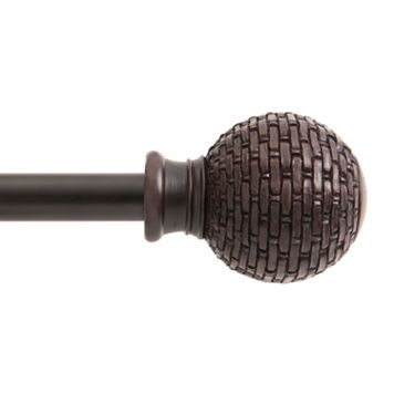 Kenney Woven Ball Adjustable Curtain Rod