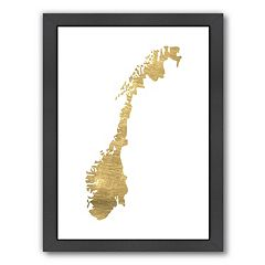 Americanflat Norway Framed Wall Art