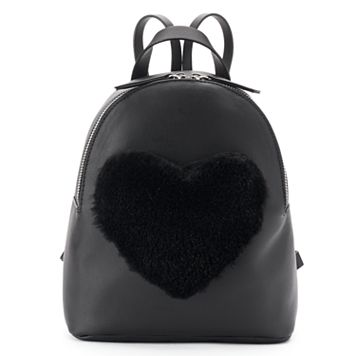 T-Shirt & Jeans Fuzzy Heart Backpack