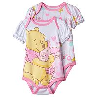 Disney's Winnie the Pooh Baby Girl 2-pk. Graphic & Print Bodysuits