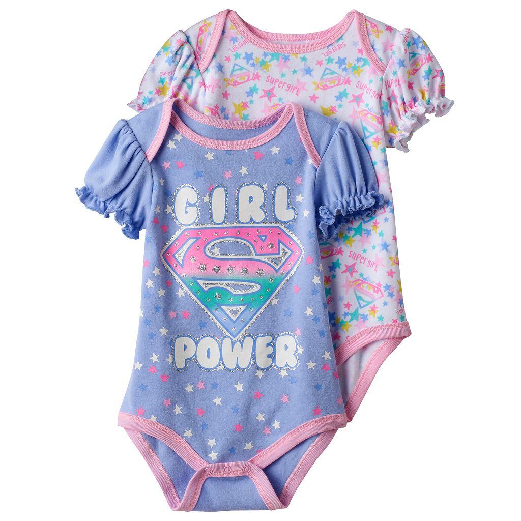 Baby Girl Super Girl 2-pk. Print & Graphic Bodysuits