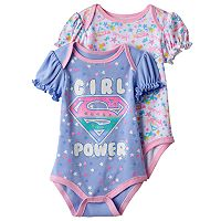 Baby Girl Super Girl 2-pk. Print & Graphic Bodysuits