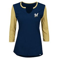 Plus Size Majestic Milwaukee Brewers Raglan Tee