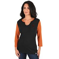 Plus Size Majestic San Francisco Giants Raglan Tee