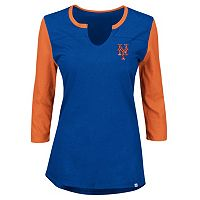 Plus Size Majestic New York Mets Raglan Tee