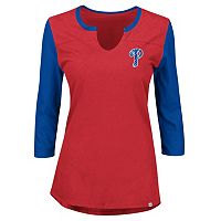 Plus Size Majestic Philadelphia Phillies Raglan Tee