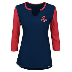 Plus Size Majestic Boston Red Sox Raglan Tee