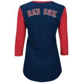 Plus Size Majestic Boston Red Sox Raglan Tee