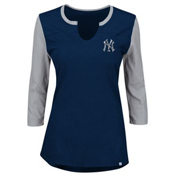Plus Size Majestic New York Yankees Raglan Tee