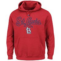 Big & Tall Majestic St. Louis Cardinals Wordmark Hoodie