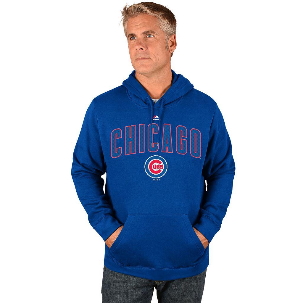 Big & Tall Majestic Chicago Cubs Wordmark Hoodie