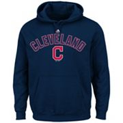 Big & Tall Majestic Cleveland Indians Wordmark Hoodie