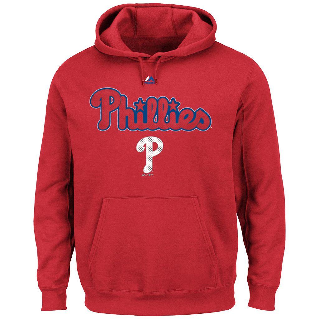 Big & Tall Majestic Philadelphia Phillies Wordmark Hoodie