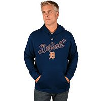 Big & Tall Majestic Detroit Tigers Wordmark Hoodie