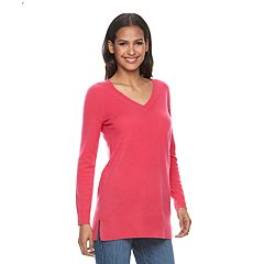 Women's Apt. 9®  V-Neck Cashmere Tunic Sweater
