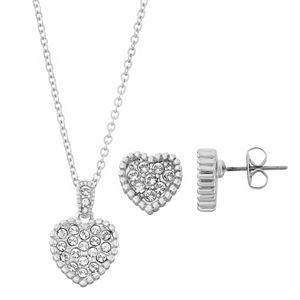 Brilliance Heart Jewelry Set with Swarovski Crystals