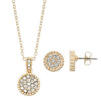 Brilliance Disc Jewelry Set with Swarovski Crystals
