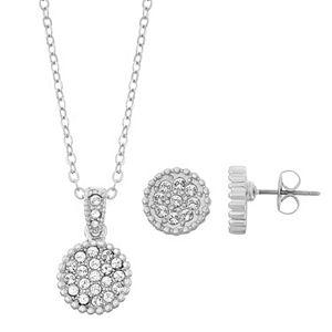 Brilliance Disc Jewelry Set with Swarovski Crystals