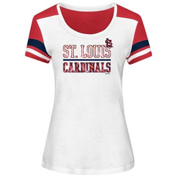 Plus Size Majestic St. Louis Cardinals Striated Tee