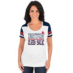 Plus Size Majestic Boston Red Sox Striated Tee