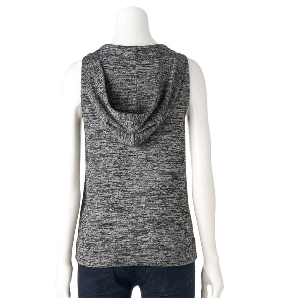 Women's Juicy Couture Marled Sleeveless Hoodie