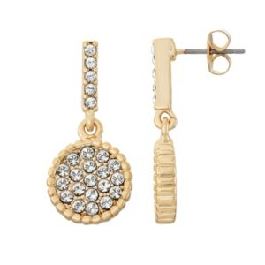 Brilliance Disc Drop Earrings with Swarovski Crystals