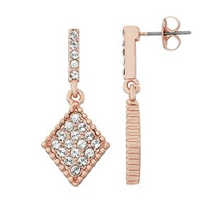 Brilliance Kite Drop Earrings with Swarovski Crystals