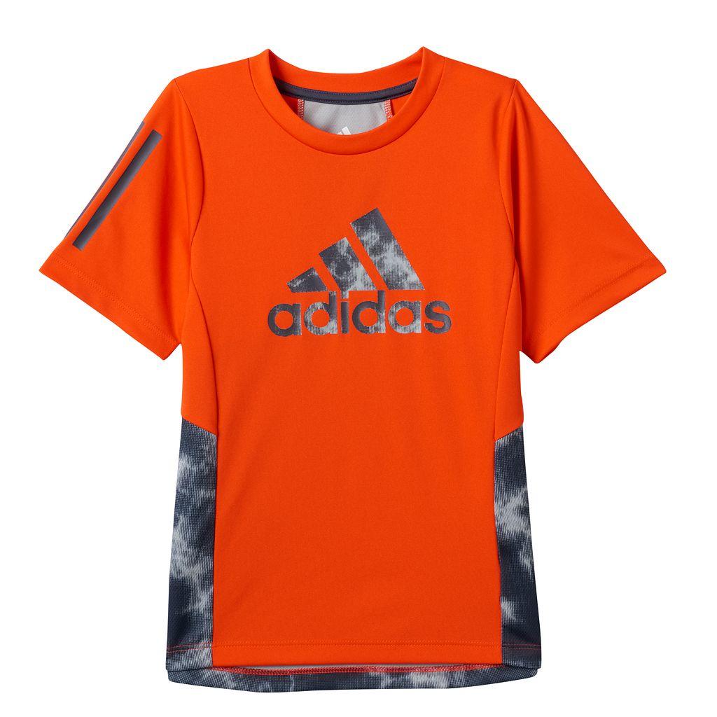 Boys 4-7x adidas Lightening Print Color-Block Tee
