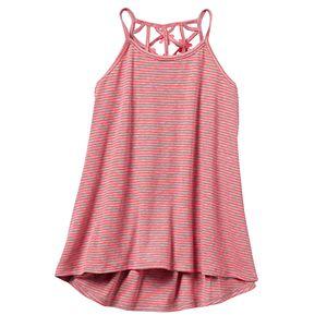Girls 7-16 & Plus Size SO® Lattice Back High-Low Tank Top