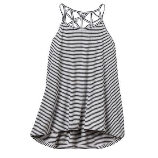 Girls 7-16 & Plus Size SO® Lattice Back High-Low Tank Top