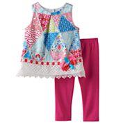 Baby Girl Rare Editions Geometric Tunic & Solid Leggings Set
