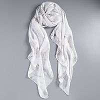 Simply Vera Vera Wang Marble Print Wrap Scarf