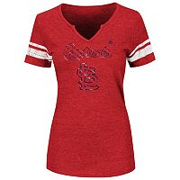 Women's Majestic St. Louis Cardinals Favorite Team Tee