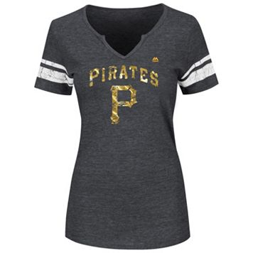 Women's Majestic Pittsburgh Pirates Favorite Team Tee