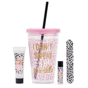 """Simple Pleasures """"I Don't Sweat I Sparkle"""" Cup Gift Set"""
