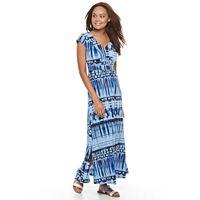 Petite Dana Buchman Shirred Maxi Dress